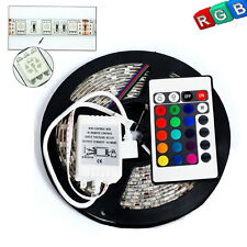 5M 300 LED 5050 SMD RGB Strip Light Multi-color Waterproof Lamp+ 24 Key Remote