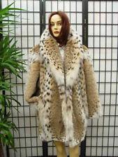 BRAND NEW NATURAL MONTANA LYNX FUR COAT JACKET WOMEN WOMAN