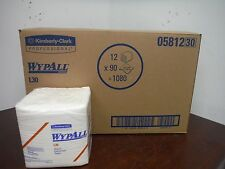 """[lot of 12] KIMBERLY CLARK Wypall L30 Wipers - 12.5""""x13"""" - Towel"""