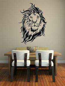Image Is Loading Wall Art Sticker Decal Vinyl Lions Head Mane