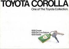 Toyota Corolla KE20 1200 Saloon Estate Coupe 1973-75 original UK Market Brochure