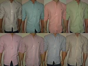 Polo Ralph Lauren Oxford Shirts New Standard FIit Men's S,M,L,XL,XXL all colors