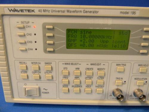 Universal Waveform Generator With Option 001 WaveTek 195 16 MHz