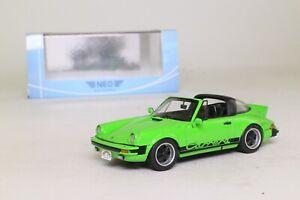 PORSCHE 911 CARRERA TARGA USA 1985 GREEN NEO 43248 1/43 RESINE GRUN VERT VERDE