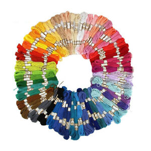50-100PCS-Cross-Stitch-Cotton-Embroidery-Thread-Floss-Sewing-Skeins-Craft