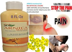 ARNICA-MONTANA-GEL-8-Oz-NO-colorants-PAIN-RELIEF-BRUISES-MUSCLE-ACHES-CREAM-NEW