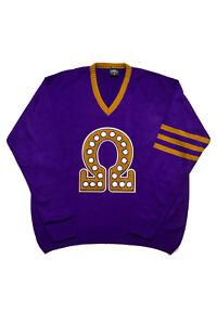 Omega Psi Phi Old School Vneck Sweater With Omega Symbol Ebay