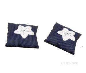 Details About Throw Pillows Navy Blue W White Starfish 16 Set Of 2 Beach House Coastal Decor