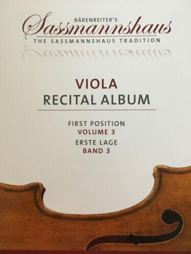 Erste Lage Band 3 Sassmannshaus Viola Recital Album