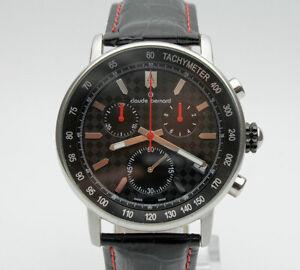 CLAUDE-BERNARD-EDOX-CHRONOGRAPH-QUARZ-Armbanduhr-neue-Batterie-top-Zustand