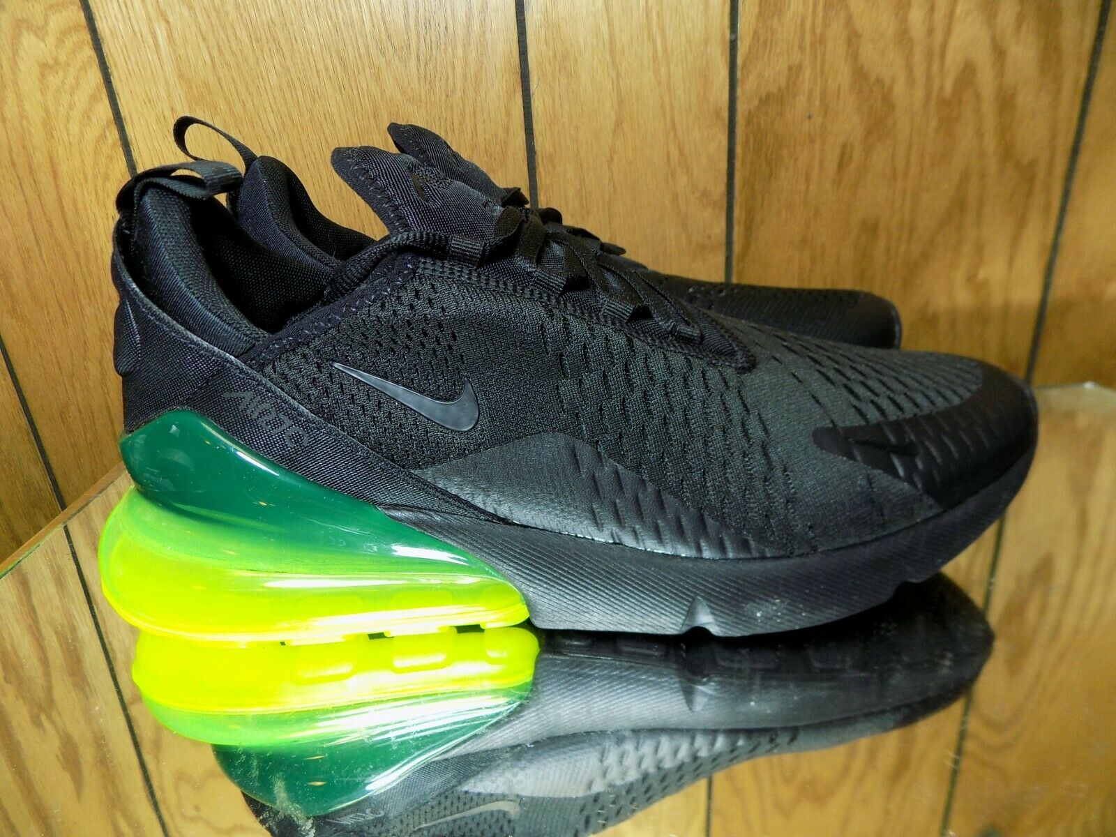 Nike AIR MAX 270 Running shoes Black Volt (AH8050 011) Men's Sz 11.5 New
