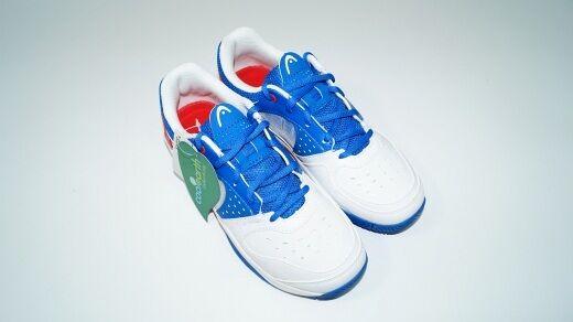 nouveau  Head Sprinter Junior Tennis chaussures EU 36,5 = UK 4 Boy All Court bleu blanc nouveau