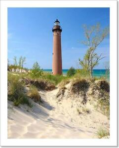 Little Sable Point Lighthouse In Art Print Home Decor Wall Art Poster G