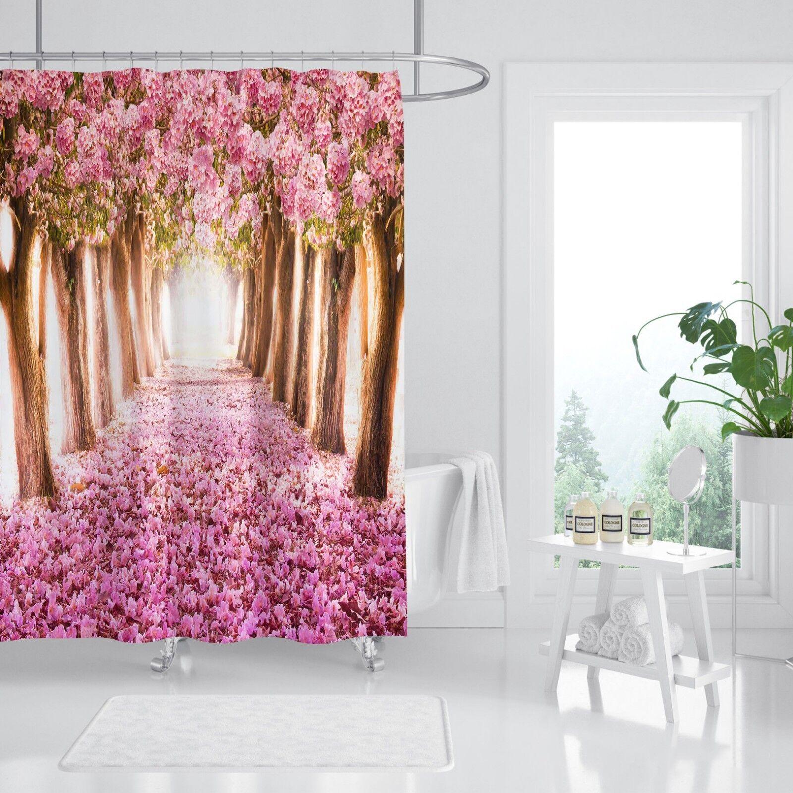 3D rose Petal boiss 7 Shower Curtain imperméable Fiber Bathroom  Window Toilet