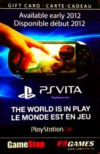 EB GAMES GAMESTOP 2012 PSP SONY PS VITA TABLET BILINGUAL COLLECTIBLE GIFT CARD