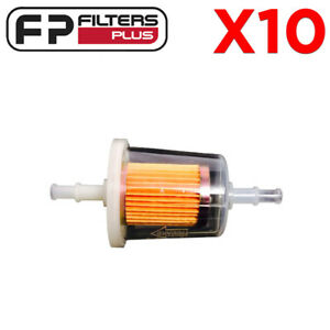 MN Small Petrol Universal Car Inline Fuel Filter 6mm-8mm Pack of 2