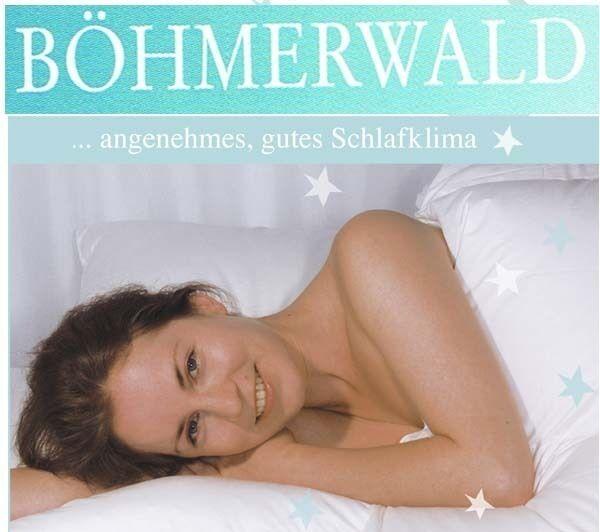 Böhmerwald Daunen Premium Kassettenbett Normal  mit Innensteg   155 x 220 cm