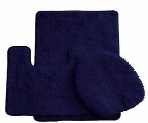 3-Piece-Luxury-Acrylic-Bath-mat-set-Made-with-100-Polypropylene-Navy-Blue