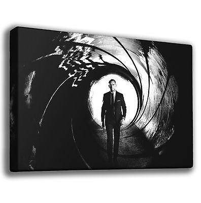 SKYFALL 007 JAMES BOND BARREL OF GUN GICLEE CANVAS ART