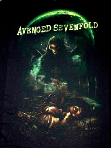 Avenged Sevenfold Mens T-Shirt Cemetery /& Moon Brand New With Tags