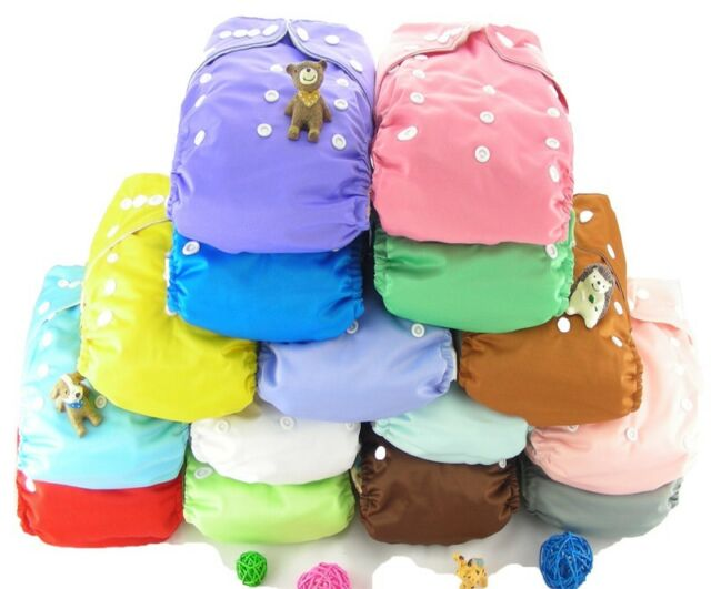 Infant Shine Baby Solid Color 2.0 Cloth Diapers Nappy Cover Diaper Liner Insert