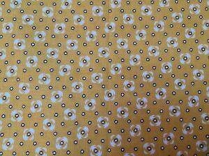Yellow FQ Fat Quarter Fabric Grey Flower Flowers Patterns 100/% Cotton Quilting