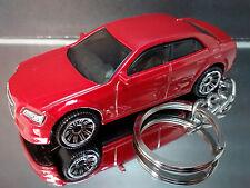Red 2015 Chrysler 300 Key Chain Ring Diecast 3D Fob