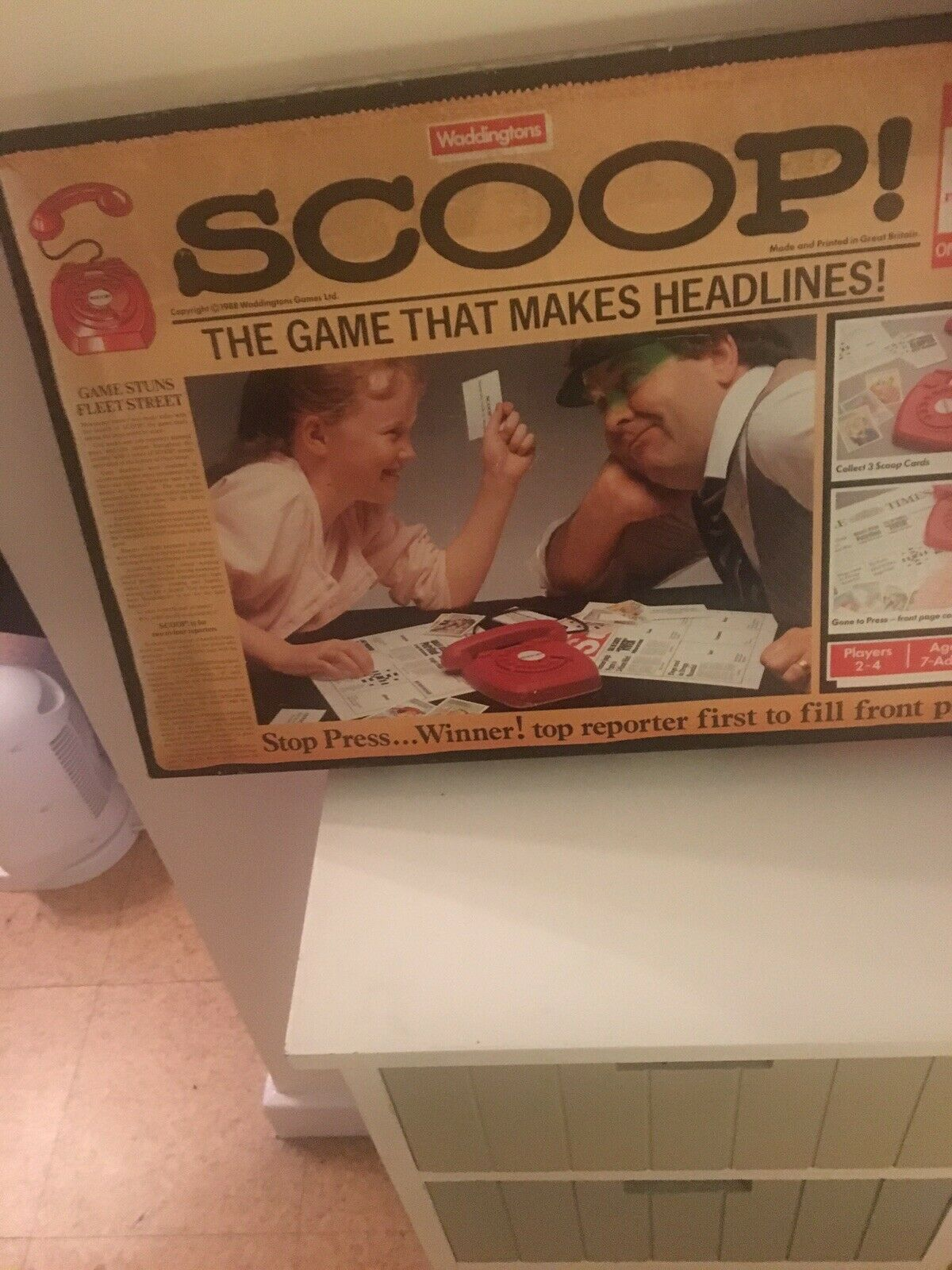 Scoop Vintage Board Game By Waddingtons complete from 1988