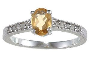1-25-Ct-Original-Citrino-Anillo-con-Diamante-Estilo-Vintage-Plata-de-Ley-925