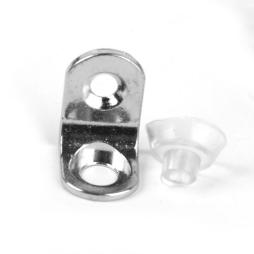 10pcs Suction Cup Base Metal Plate Glass Shelf Support Holder