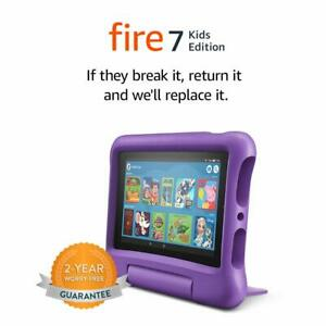 Todos los nuevos Amazon Fire 7 Kids Edition 7 pulgadas 16GB Tablet-púrpura + 64GB Tarjeta de memoria