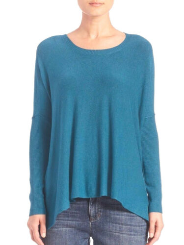 $228 BNWT Eileen Fisher Cozy Viscose Stretch VIRIDIAN Teal Top L XL