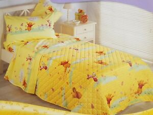 Copripiumino Winnie The Pooh.Details About Quilted Bedspread Quilt Quilt Winnie The Pooh Honey Single Single