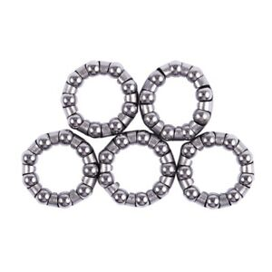 2 x Bicycle Rear Wheel Axle 1//4 Inch x 7 Ball Bearing Cages Pair pzus