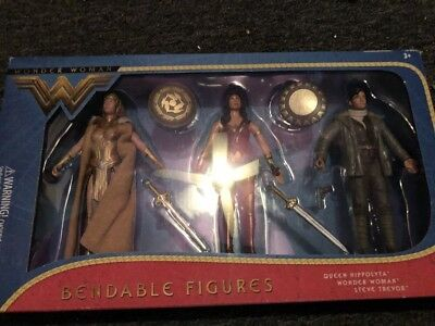 Wonder Woman Movie Wonder Woman Queen Hippolyta /& Steve Trevor Bendable Figures