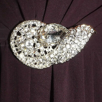 Utile Diamante Trasparente Placcato Argento Strass Spilla, Abiti Da Sposa, Damigella, Sera, Ballo Di Fine Anno (211)-maid,evening,prom (211) It-it