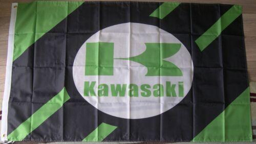 windscreen shade man cave KAWASAKI FAN flag banner truck,shed,garage UK