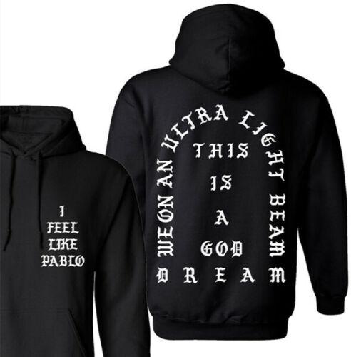 I Feel Like Pablo Hoodies Kanye West God Tour Yeezus Hip-hop Pullover Sweatshirt