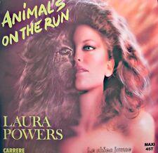 ++LAURA POWERS animals on the run (2 versions) MAXI 1983 LE CHIEN JAUNE EX++