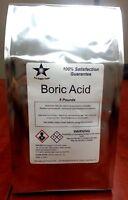 Boric Acid (orthoboric Acid, Boracic Acid) 5 Lb Pack 9964