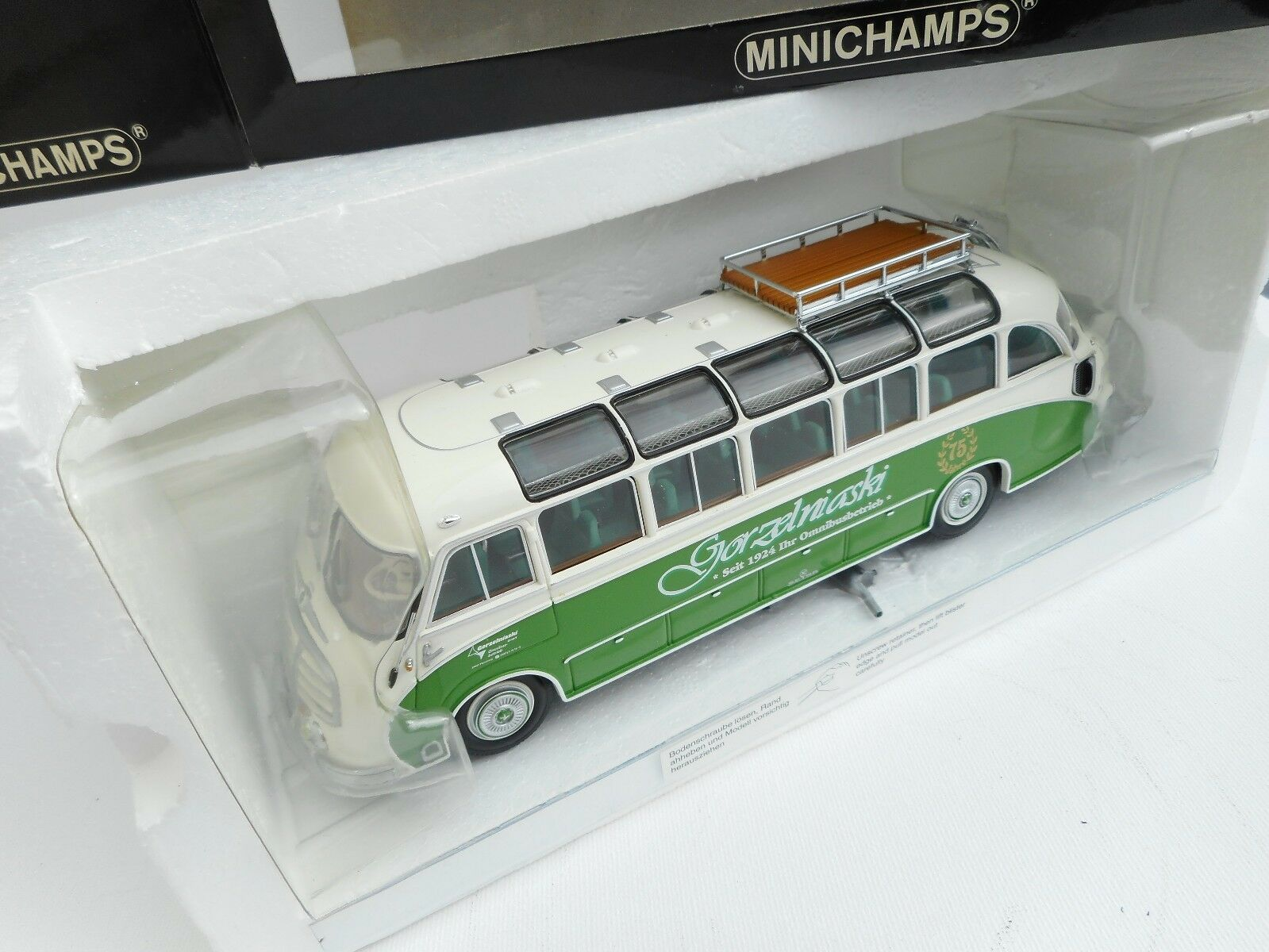 Setra S8 Bus Panorama 1953 Gorzelniaski 1 43 Minichamps 1 of 1308  NEW OVP
