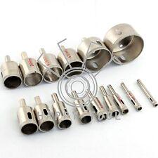 15pcs Diamond Coated Core Hole Saw Drill Bit Rotary Tool Marble Glass 6 - 50mm