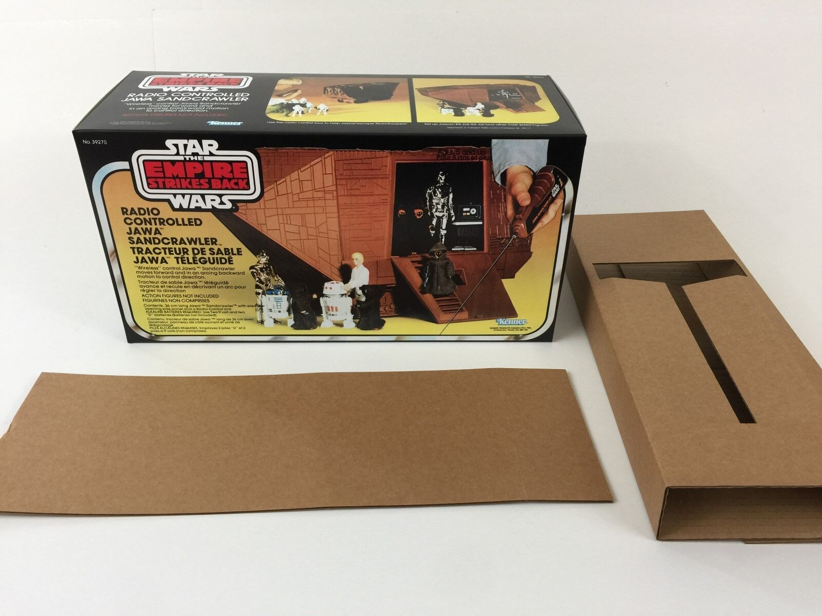 Replacement vintage star wars esb jawa sandcrawler box and inserts sand crawler