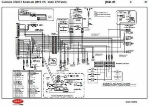 details about 1995 5 peterbilt 379,357,375,377,378 cummins n14 celect wiring diagram schematic  peterbilt 379 wiring injectors diagram #4