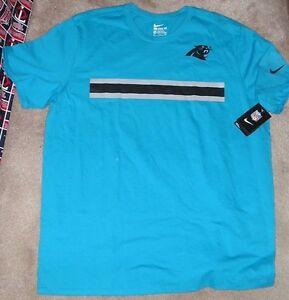 NEW NFL NIKE Carolina Panthers Sideline Football T Shirt Men XL X ... 2f50d3ffc