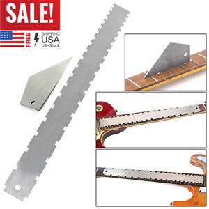 Hot-Pro-Designed-Guitar-Neck-Notched-Straight-Edge-And-Fret-Rocker-Luthier-Tools