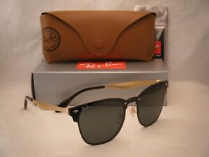 5f852f11cb26c Ray Ban 3576N Blaze Clubmaster Brushed Gold w Dark Green (RB3576N ...