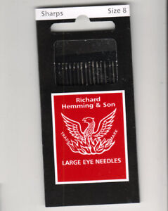 Made in England Milliners Size 8 Richard Hemming Needles