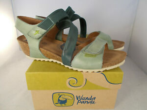 Wanda-Panda-Green-Bilma-Manzana-Leather-Sandals-Women-039-s-Size-6-5-7-US-New-In-Box