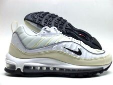 new styles 15724 4e786 Nike Womens Air Max 98 White Fossil Reflect Silver Black Ah6799 102 Size  10.5